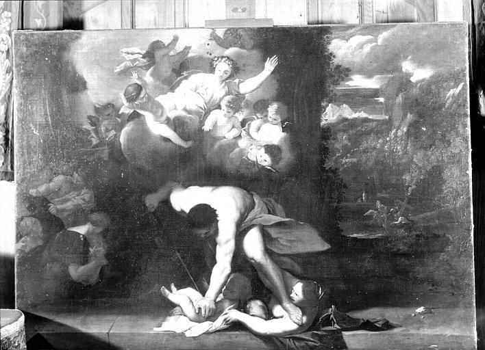 Peinture sur toile située dans le Grand Salon : Massacre des Innocents