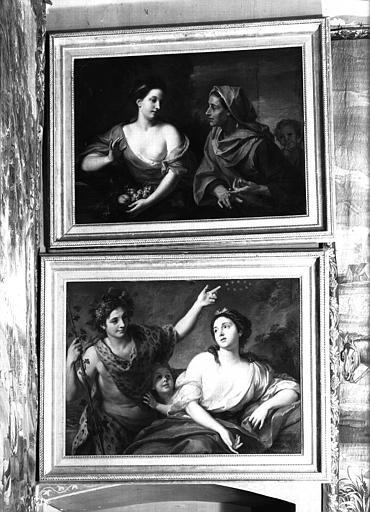 Deux peintures sur toile situées dans le Grand Salon : sujets mythologiques