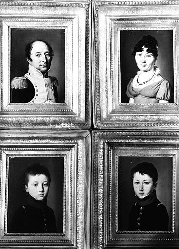 Peintures sur toile situées dans la Grande Chambre d'hiver : quatre portraits