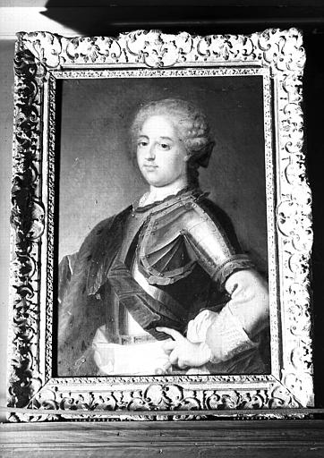 Peinture sur toile située dans la Chambre de Madame Onslow : copie d'un portrait de Louis XV