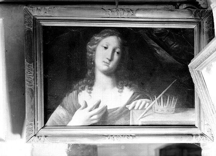 Peinture sur toile, tableau allégorique : la Musique