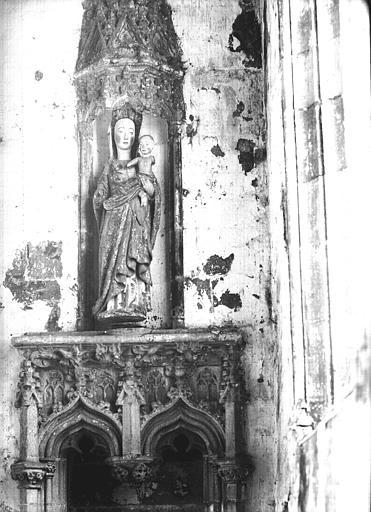 Statue en bois polychromé, Vierge à l'Enfant