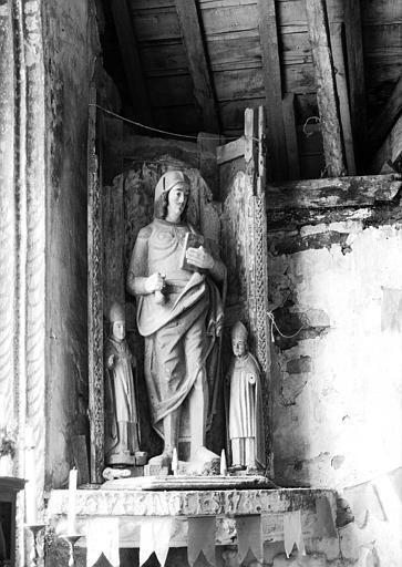 Statue en bois : saint Venec
