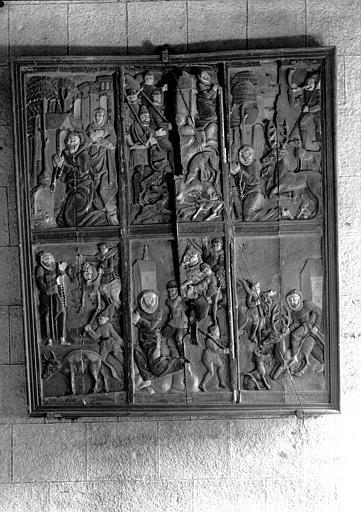 Panneau en carton moulé : Vie de saint Edern