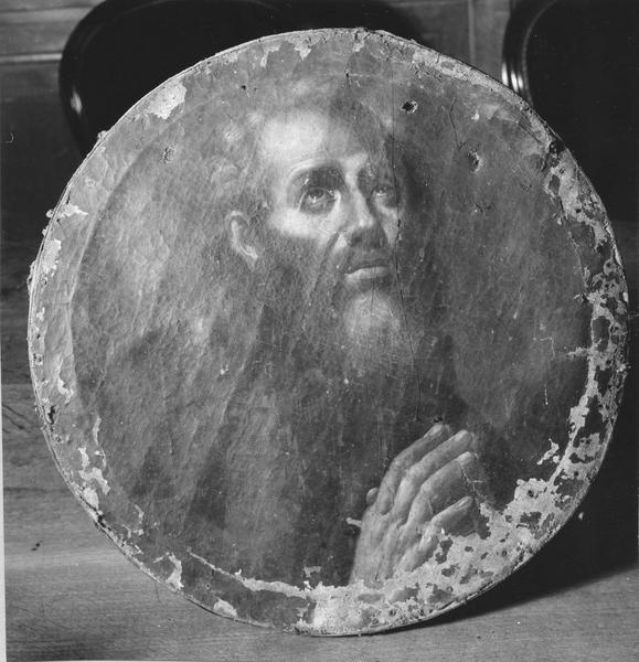 tableau : Saint en prière, vue en buste