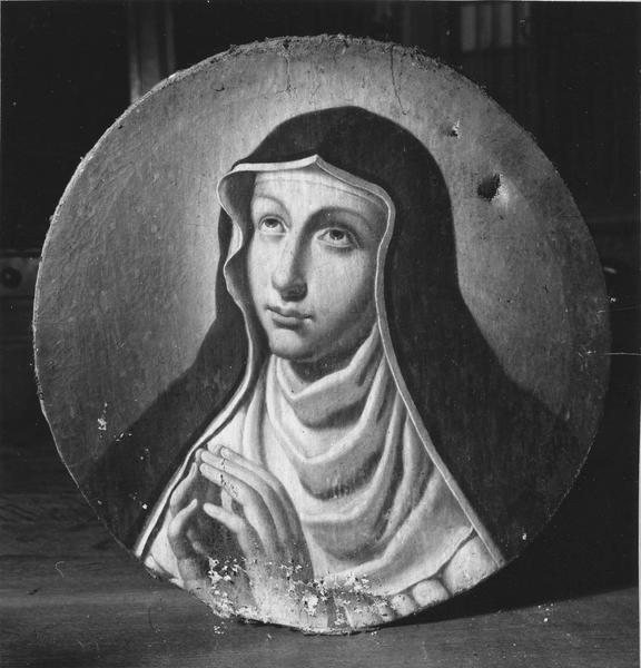 Tableau : Sainte en prière, vue en buste