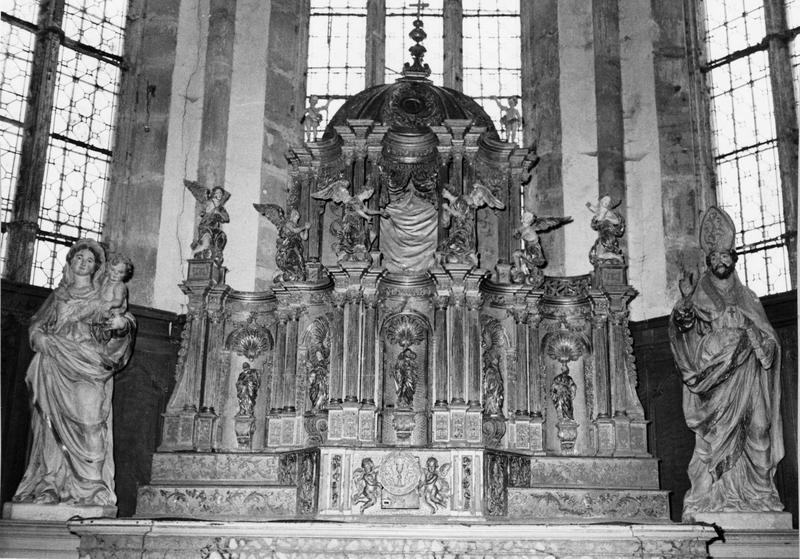 Autel (maître-autel), vue générale du tabernacle