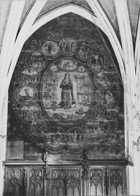 peinture monumentale : la Vierge du Rosaire