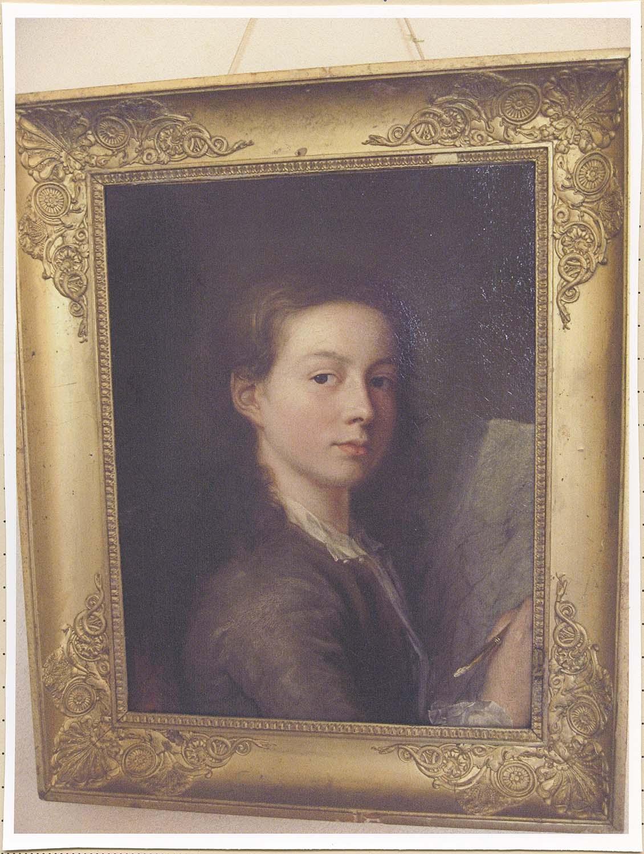 tableau : autoportrait du peintre Jacques Aved à l'âge de 18 ans