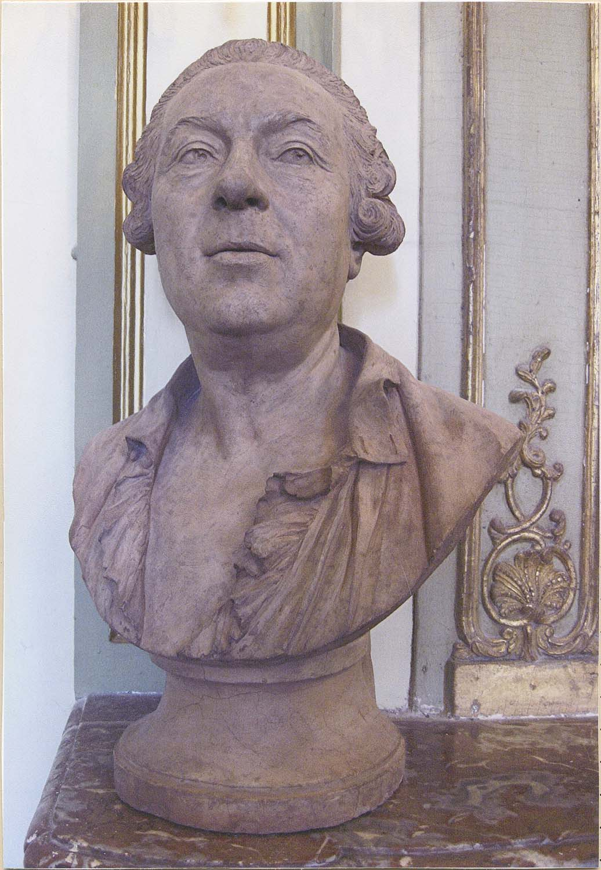 buste : Jacques Aved, peintre, de face