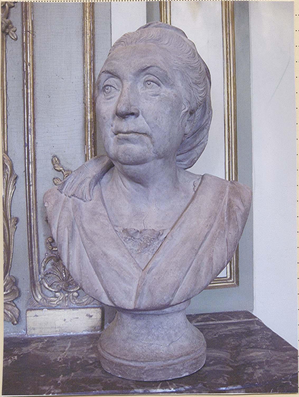 buste : Anne-Charlotte Gaultier de Loizerolles, épouse du peintre Jacques Aved, de face