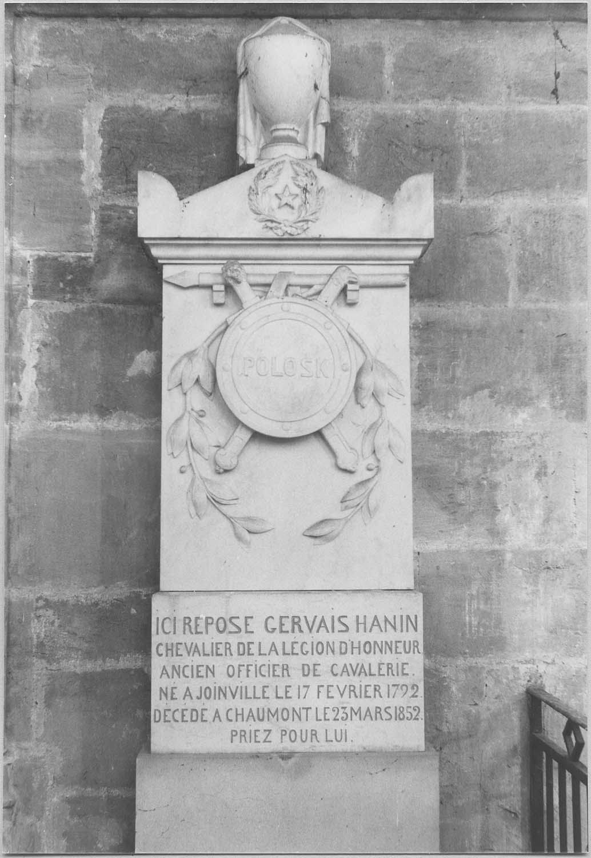Monument funéraire de Gervais Hanin