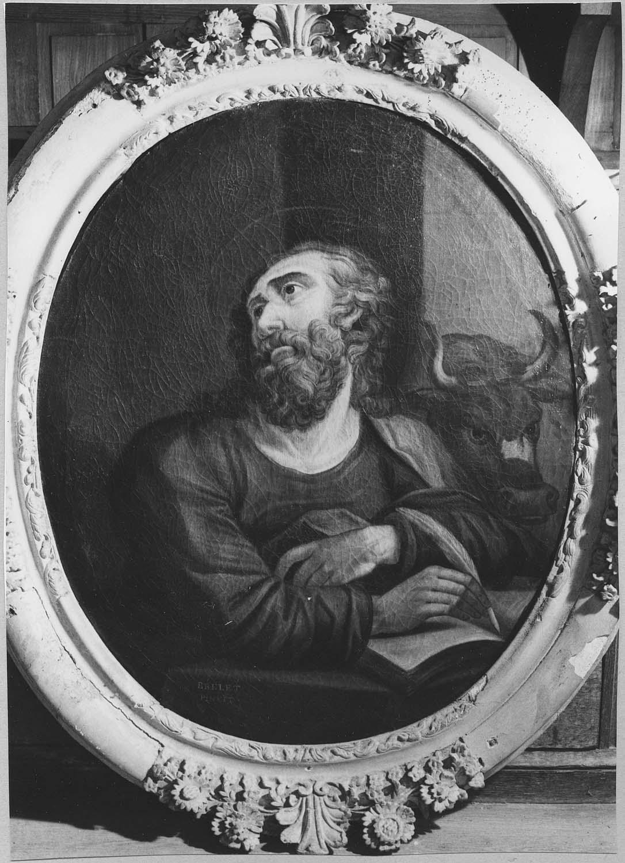 tableau (médaillon) : saint Luc
