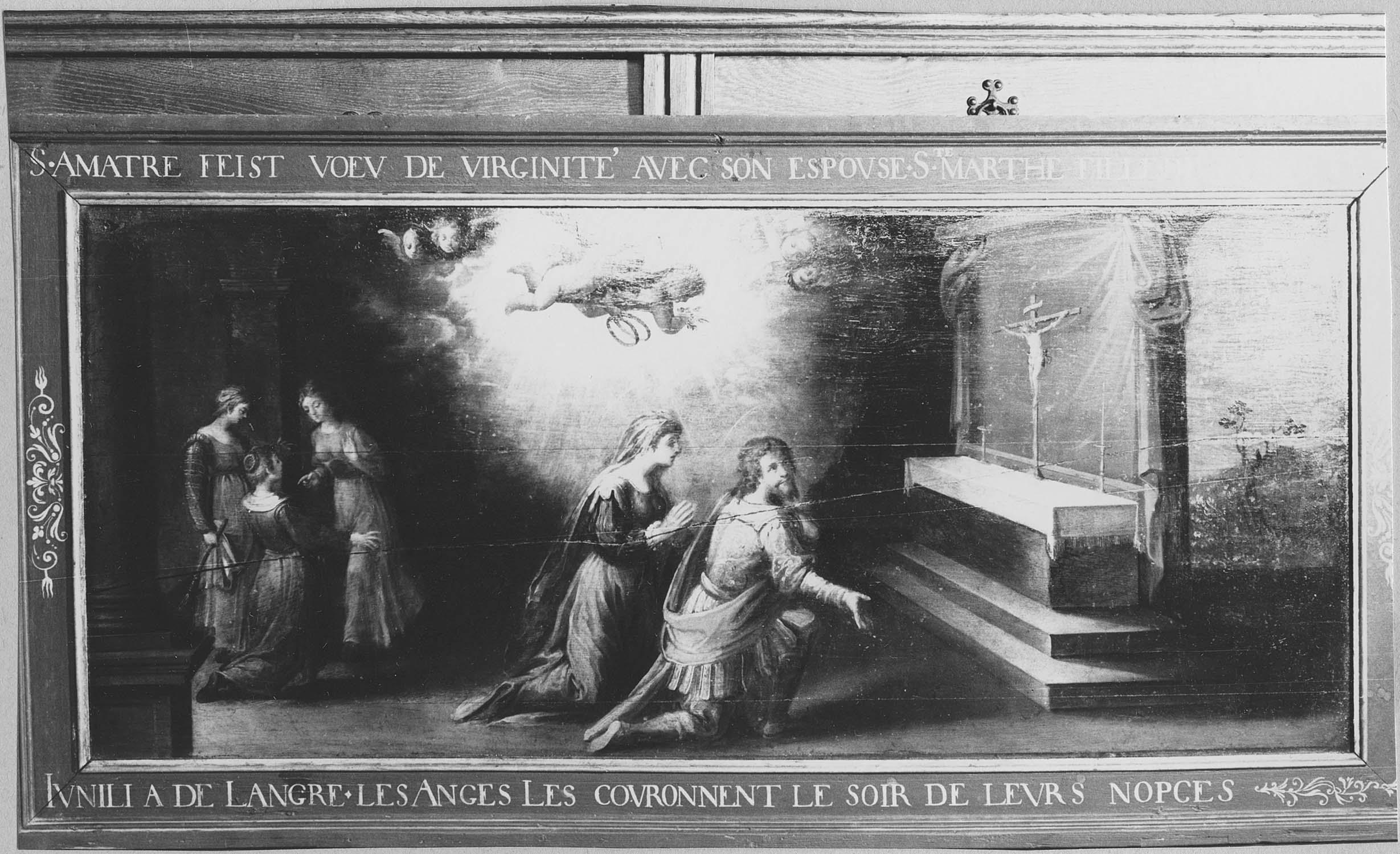 4 tableaux : Vie de saint Amâtre (La)