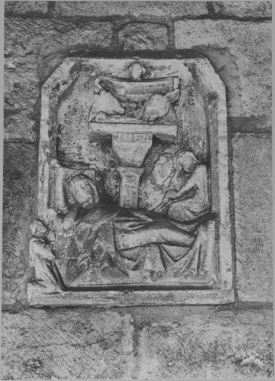 Bas-relief style populaire : Nativité avec donateur (La)