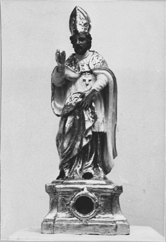 Statuette-reliquaire : Saint Evêque bénissant