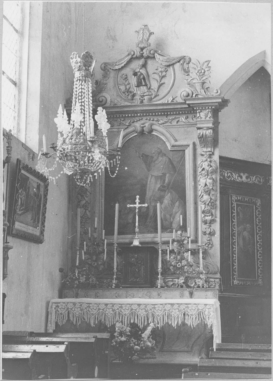 Autel, retable, gradin d'autel, tabernacle, tableau : Saint Nicolas