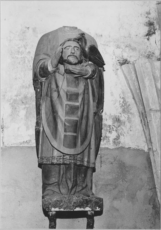 Statue : Saint Céphalophore à l'oiseau