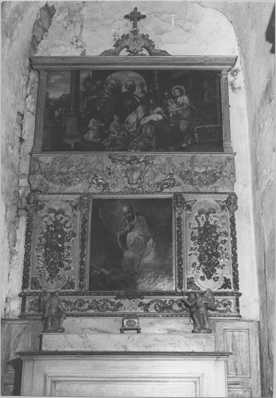 Retable, 2 tableaux : l'Adoration des Mages, Saint François-de-Sales