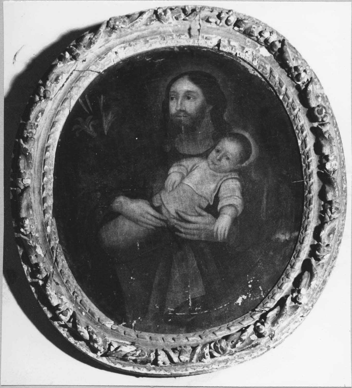 Tableau, cadre : Saint Joseph et l'Enfant Jésus