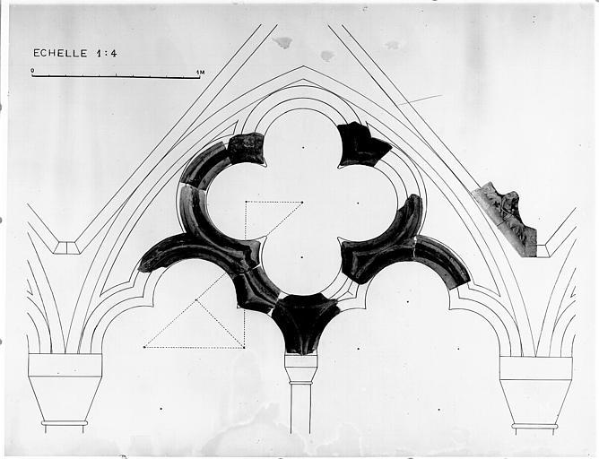 Elévation d'une arcade du jubé, reconstitution