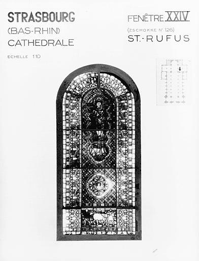Photomontage de vitrail : baie 24, saint Rufus