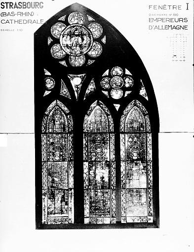 Photomontage de vitrail : baie I, Empereur d'allemagne