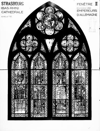 Photomontage de vitrail : baie II, Empereur d'Allemagne