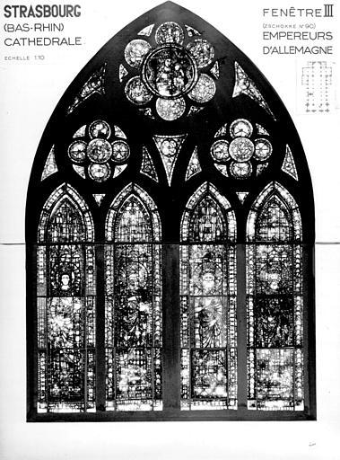 Photomontage de vitrail : baie III, Empereur d'Allemagne