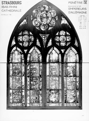 Photomontage de vitrail : baie IV, Empereur d'Allemagne