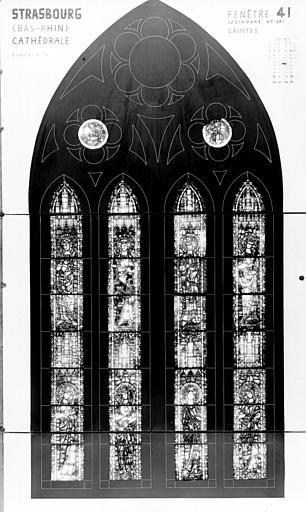 Photomontage de vitrail : baie XLI, saintes diverses