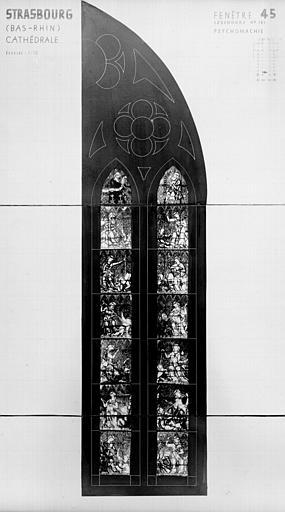 Photomontage de vitrail : baie XLV, Psychomachie