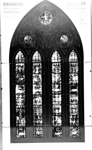 Photomontage de vitrail : baie XLVI, évêques du Diocèse