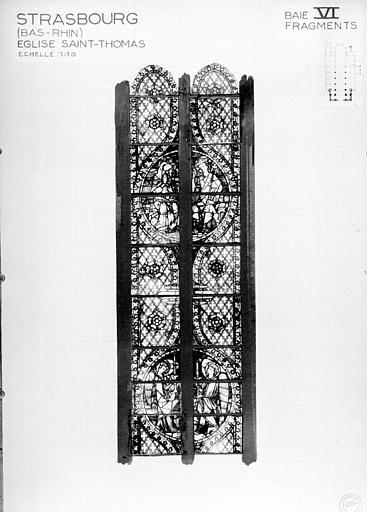 Photomontage de vitrail : baie VI, fragments