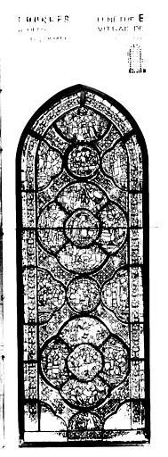 Photomontage de vitrail : baie E, Enfant prodigue