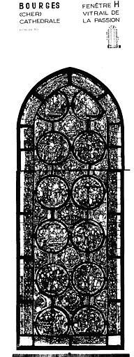 Photomontage de vitrail : baie H, Passion