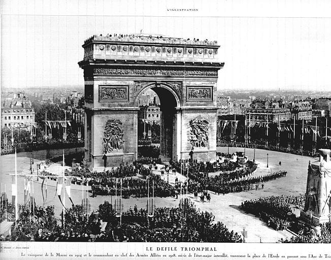 Défilé triomphal en 1919