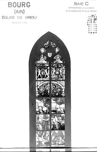 Photomontage de vitrail : baie C