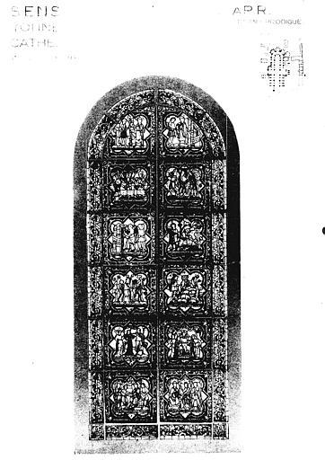 Photomontage de vitrail : baie E, l'Enfant prodigue
