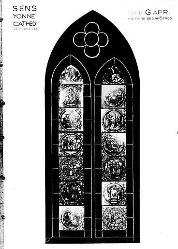 Photomontage de vitrail : baie G, Histoire des apôtres