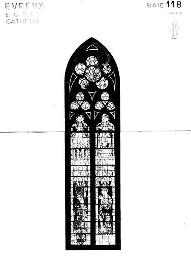 Photomontage de vitrail : baie 118