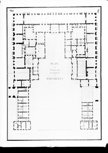 Plan du premier étage : cour de marbre