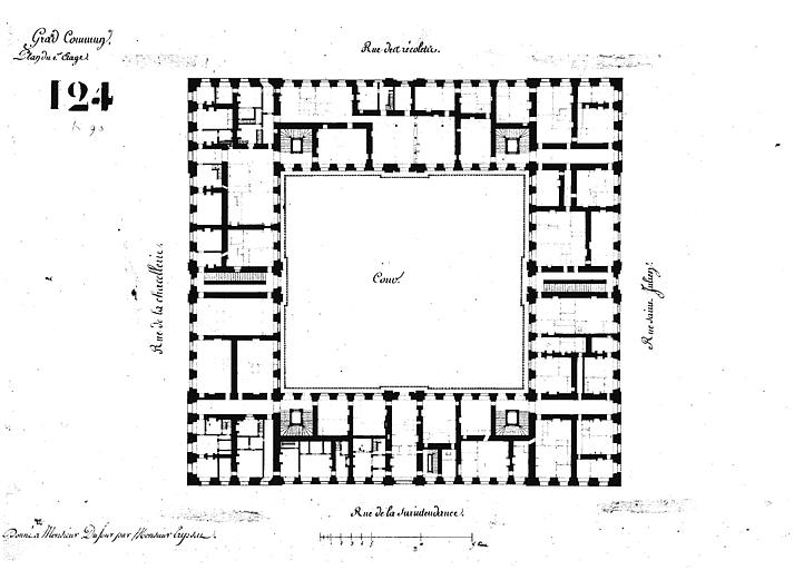 Grand commun, plan du premier étage