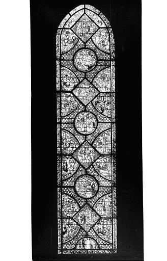 Photomontage de vitrail : baie 38, Légende de Charlemagne