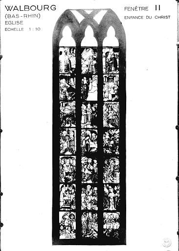 Photomontage de vitrail : baie 2, Enfance du Christ