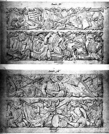 Projet de décoration de bas-reliefs