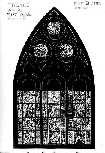 Photomontage de vitrail, baie B : prophètes