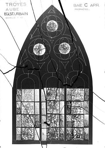 Photomontage de vitrail, baie C : prophètes