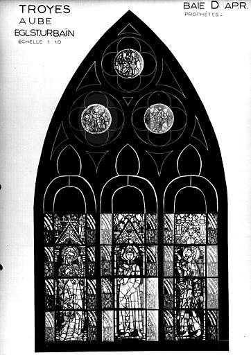 Photomontage de vitrail, baie D : prophètes