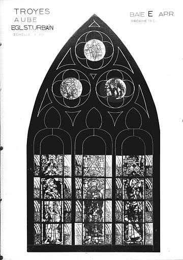 Photomontage de vitrail, baie E : prophètes